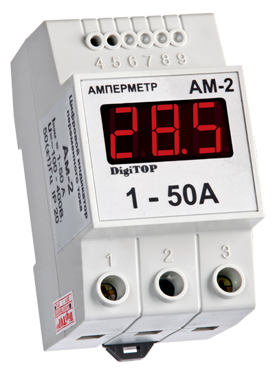 Амперметр Ам-2 (встроенный ТТ) DIN