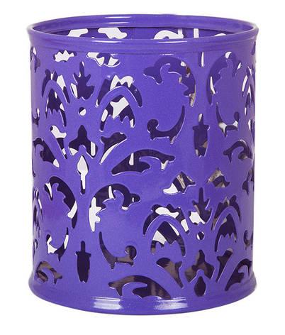 """Подставка для ручек Barocco"""" 83х100мм металлическая фиолетовый, фото 2"""