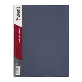 Папка з файлами Axent А4 дисплей-книга 60 файлів сіра 1060-03-А