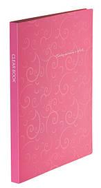 Папка з файлами Дисплей-книга Buromax BAROCCO А4 20 файлів рожевий BM.3607-10