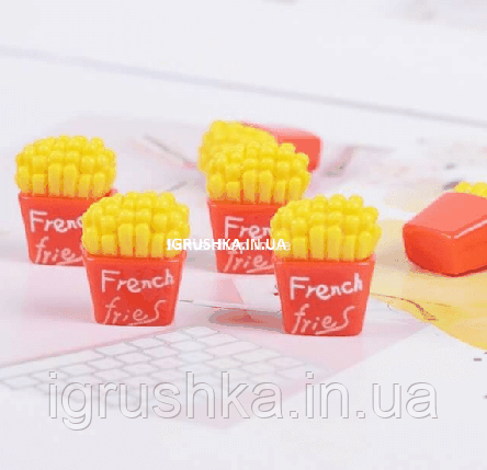 Шарм «Картопля French fries» для слайма, фото 2