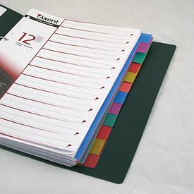 Роздільники сторінок Axent 12 розділів роздільники сторінок пластикові 1912-01-А