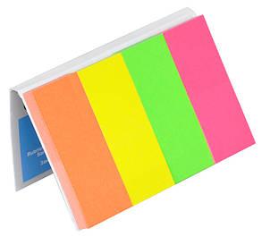 Закладки Donau паперові з клейким шаром 20х50мм 4кол х50 листів 7576001PL