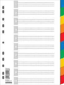 Цифровой индекс - разделитель А4 10 поз. цветн. с листом описи