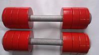 Гантели 2 по 10 кг разборные металл с покрытием (металеві гантелі розбірні з покриттям наборні наборные), фото 1