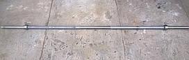 Гриф тренировочный в комплекте с замками 1.8 м прямой для штанги (вес 8 кг диаметр 25 мм нагрузка 350 кг)