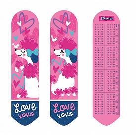 Закладка 2D 1Вересня ''Love XOXO''