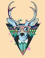 Набор-стандарт, акриловая живопись по номерам, ''Cool deer'', ROSA START