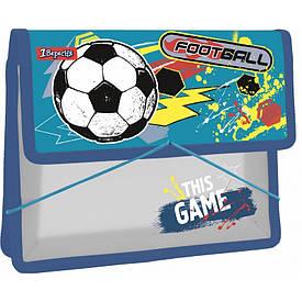 Папка для тетрадей пласт. 1Вересня на резинке В5 ''Team football''