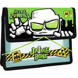 Папка для тетрадей YES пласт. на резинке В5 ''Zombie''