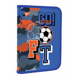 Папка для тетрадей YES Football В5 пластиковая на молнии (491796)