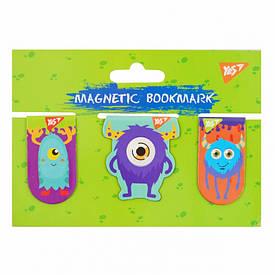 Закладки магнитные YES ''Monsters'', 3шт