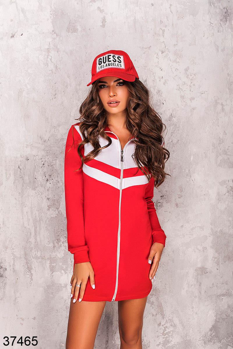 Женское спортивное платье на змейке р. 42-44, 46-48