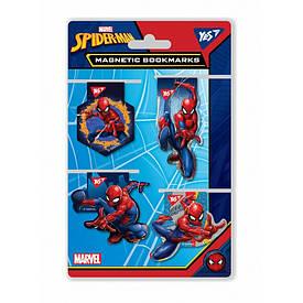 Закладки для книг YES Marvel магнитные высечка 4 шт (707403)