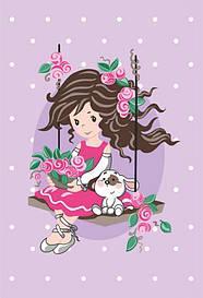 Набір картина за номерами Rosa Kids для юного художника Малювалка Мрійниця 20х30см (482308670715
