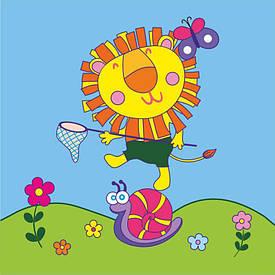 Набір картина за номерами Rosa Kids для юного художника Малювалка Добрий лев 20х30см (4823086707115)