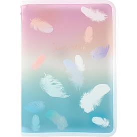 Папка об'ємна на блискавці А4+, Colourful Feather 01