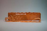 Кружево персиковое, ширина 4 см(1упаковка-10ярдов)