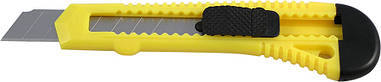 Нож канцелярский Axent 18мм желтый трафаретный D6522-02
