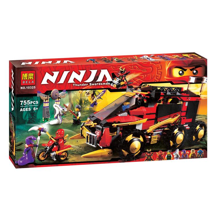 Конструктор Bela 10325 Ninjago Мобильная база 755 деталей