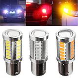 LED 1156 BA15S P21W лампа в автомобиль, 33 SMD, белая, фото 6