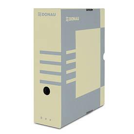 Бокс для хранения документов архивный Donau 100 мм для архивации коричневый (7661301PL-02)