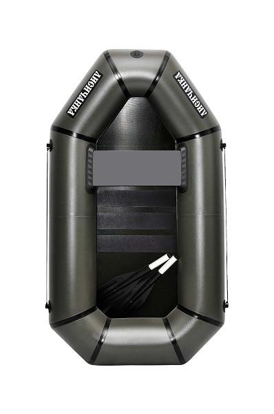 Надувная гребная одноместная лодка из пвх Л190С с твердым полом