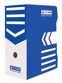 Бокс для хранения документов архивный Buromax 150 мм для архивации синий (BM.3262-02)