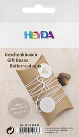 Набір картонних коробочок для подарунка, Коричневий світлий, 300 г / м2, 9х12,5 см, 6 шт, Heyda