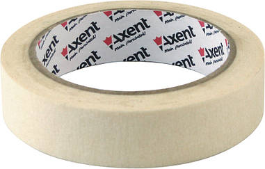 Стрічка клейка Axent паперовий скотч малярний 24ммХ20м 3124-А