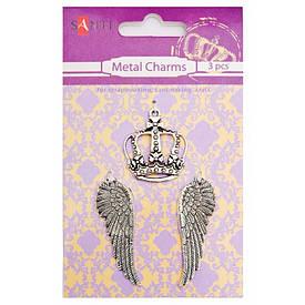 Набір металевих підвісок «Корона», 3 шт