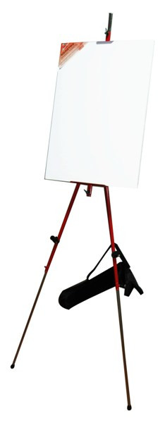 Мольберт-тринога металевий D. K. Art&Craft 92х92х203см червоний (+сумка з ремінцем) (6926586610379)