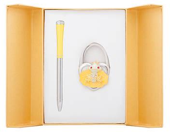 Набір подарунковий Fairy Tale: ручка кулькова + гачок д сумки жовтий