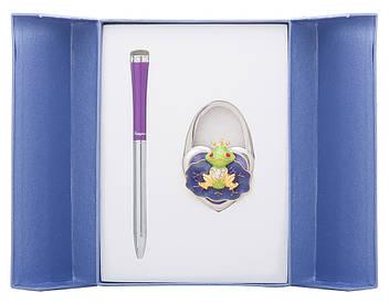Набір подарунковий Fairy Tale: ручка кулькова + гачок д сумки фіолетовий
