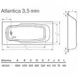 Стальная ванна Koller Pool Atlantica 180x80  с отв. (B80J8H00E), фото 2