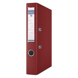 Регистратор 5 см Donau PP А4 двухсторонняя бордовый PREMIUM (3955001PL-05)