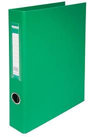 Регистратор 4 см Buromax PP А4 двухсторонняя 4ре кольца зеленый (BM.3106-04)