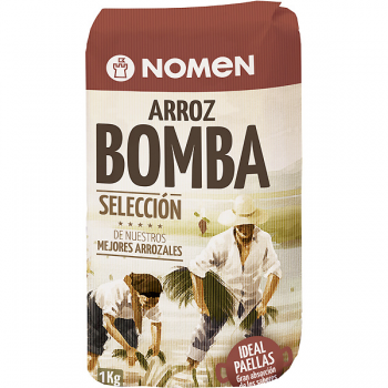 Рис для паэльи Nomen Bomba Arroz, рис Бомба 1 кг