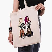 Эко сумка шоппер Блек Пинк (BlackPink) (9227-1341)  экосумка шопер 41*35 см, фото 1