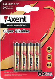 Батарейки ААА LR6 Axent 4шт 5556-А