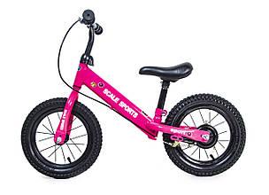 Беговел Велобег Scale Sports Малиновый цвет