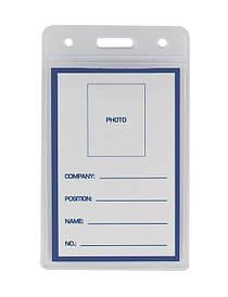Бейдж вертикальний Buromax прозорий PVC 65х109мм BM.5403