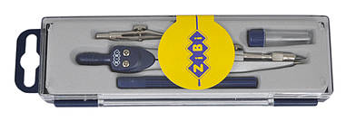 Готовальня ZiBi Basis 4 предмета в футляре темно-синий (ZB.5303BS-03)