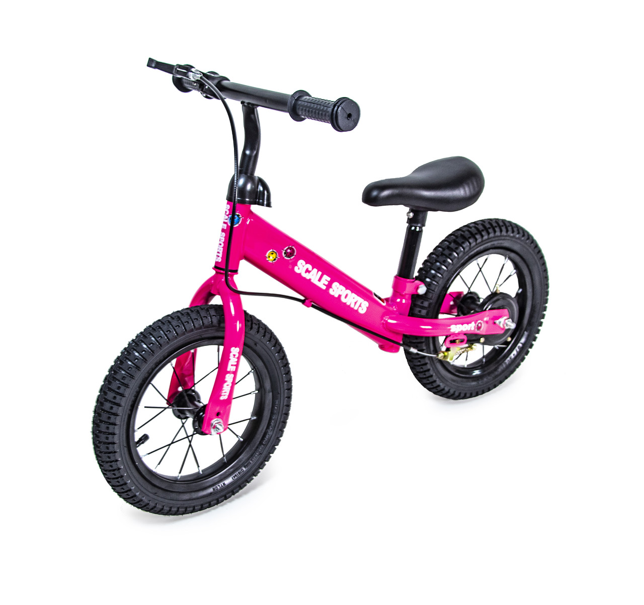 Беговел Велобег 12Д Scale Sports Малиновый цвет