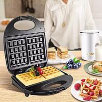 Электрическая вафельница Domotec MS-7705, электровафельница для бельгийских вафель с доставкой, фото 1