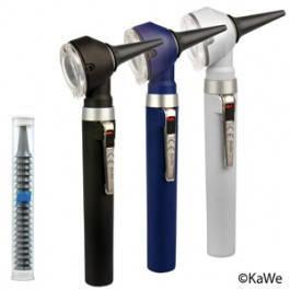 Отоскоп  Kawe PICCOLIGHT® C 2,5 V с ушными воронками, сумка из ткани, фото 2