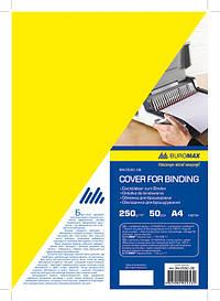 Обложка картонная глянец А4 250гм2 20 шт.уп. желтая