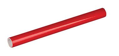 Плівка клейка для книг червона 33смх1.5м рулон