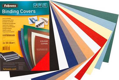 Обложки картонные А4 DELTA 250мкм под кожу белые