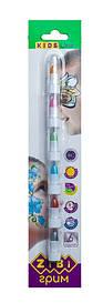 Олівці для макіяжу обличчя і тіла ZiBi KIDS Line МЕТАЛІК ПОЗИТИВ 6 кольорів металік 22 гр (ZB.6572)